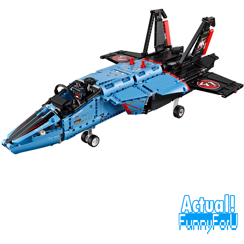 Free Shipping 20031 1151pcs Technic Series The jet racing aircraft Model Building Kits Brick lepin Toys Compatible 42066 lepin legoing 42066 1151pcs technic series the air race jet model building blocks bricks gifts toys compatible 20031
