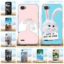 цена на For LG Q6 M700N M700A M700DSK M700AN Case Soft TPU Silicone For LG Q6 Plus Cover Cute Dog Patterned For LG Q6 Alpha Q6a Shell