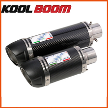 Universal 38mm 51mm Motorcycle Exhaust Muffler Carbon Fiber Leovince Motorbike Muffler Exhaust Escape moto Pipe with
