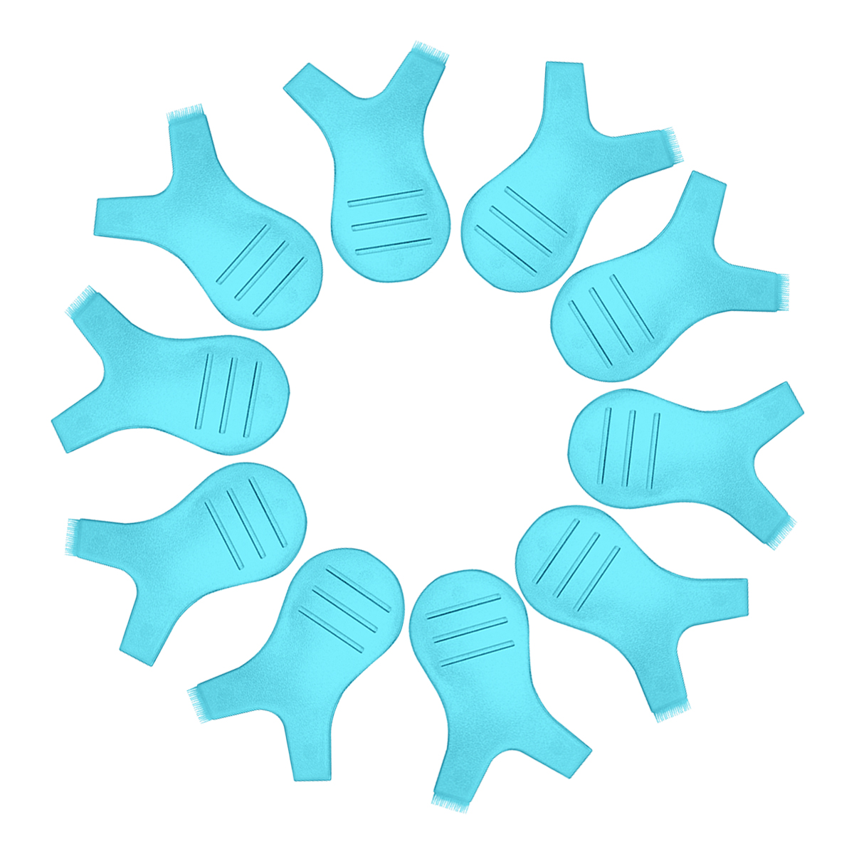 100 pieces Bag Color Blue Can Use Again Plastic Soft Brushes Mini Eye lash Brush Lashes