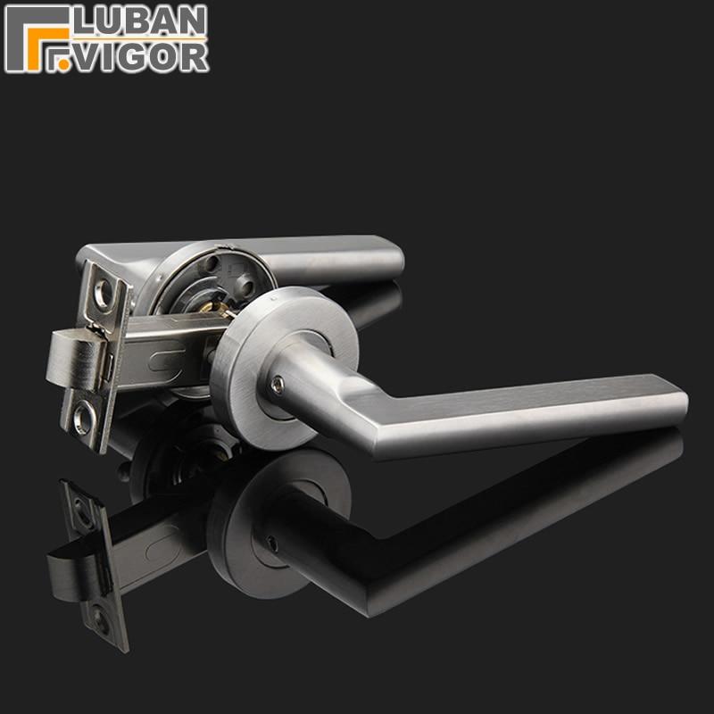 все цены на stainless steel 304, Bathroom door handle lock,Without key,Single tongue,Aisle/fire doors,High quality, durable,Door hardware онлайн