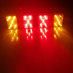 Image 4 - 2 stücke AOHEWEI 10 LEDs 12 v führte Anhänger licht Rücklicht rücklicht Bremse Stop Richtung Anzeige Position led licht anhänger