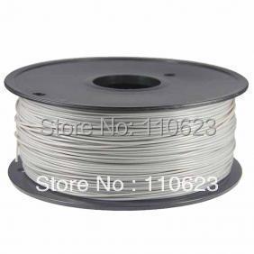 3D Printer ABS-PLA 1.75mm-3mm 1kg-roll Gray Filament Plastic Rubber Consumables Material