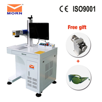 20W CNC portable laser engraving machine jewelry marking machine with 2D work table fiber laser marking machine for metal
