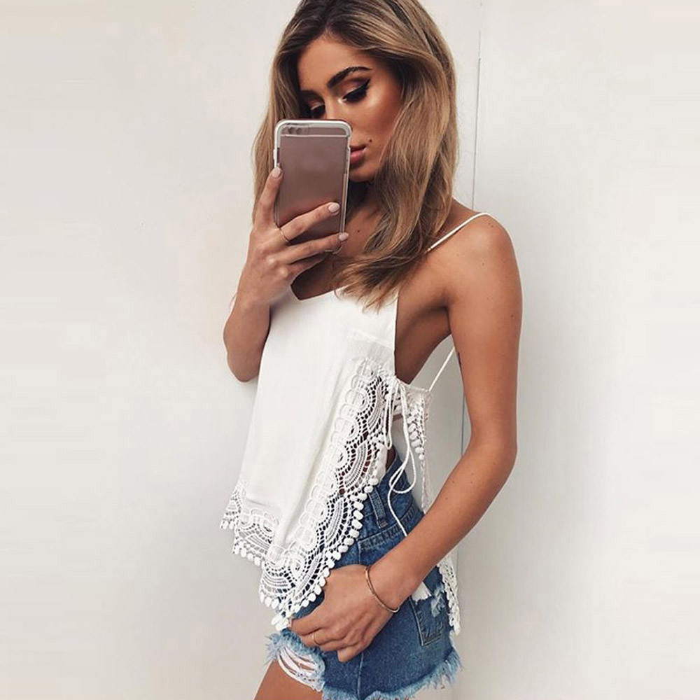 WOMAIL Women Casual Sleeveless Lace Top Vest Tank Blouse See Through Women Mar1 W20d40 2018 NEW
