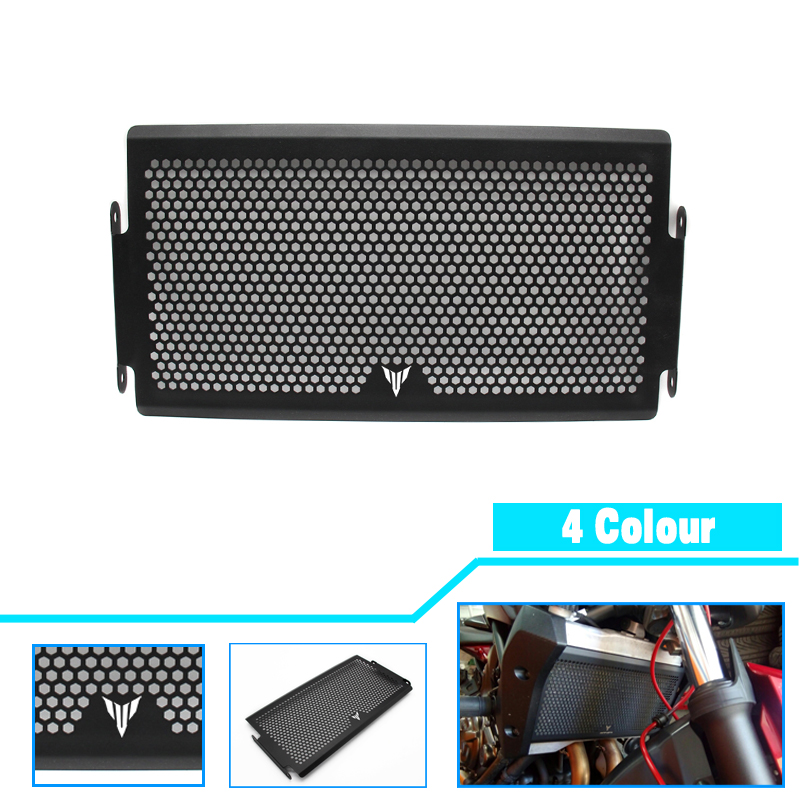 2017 New Black Motorcycle Radiator Grille Guard Cover Protector For YAMAHA MT07 MT-07 mt 07 2014 2015 2016 Free shipping arashi motorcycle radiator grille protective cover grill guard protector for 2008 2009 2010 2011 honda cbr1000rr cbr 1000 rr