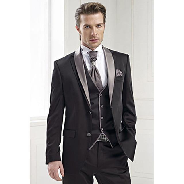 Exceptionnel Tuxedo mariage noir marié porter pour hommes marié costumes homme  VF46