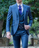 3 Piece Man Suits for Evening Prom Stage 2019 Double Breasted Vest Jacket Pants Custom Formal Wedding Groom Tuxedos