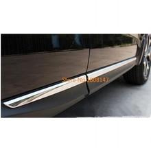 Автомобильный Стайлинг крышка детектор ABS хромированная отделка кузова, молдинг на боковые двери палочки полоски молдинг 4 шт. для subaru Forester 2013