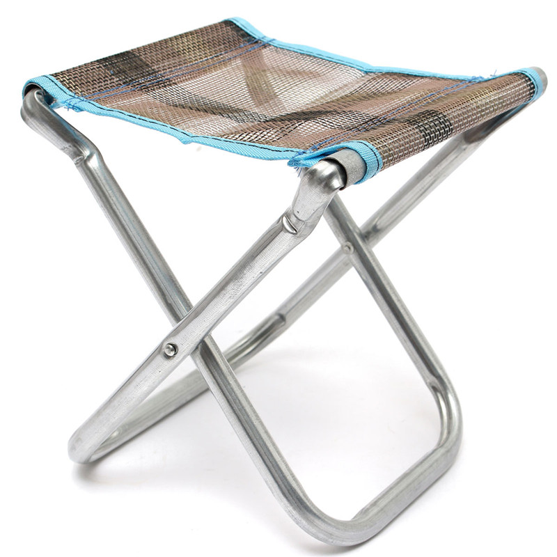 Portable Folding Aluminum Alloy Chair Outdoor Stool Garden Seat For Fishing  Camping Picnic BBQ Beach Tackle