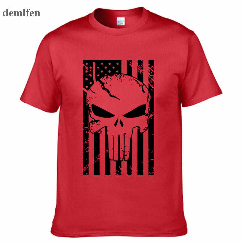 Sniper อเมริกัน Chris Kyle ผู้ชายเสื้อยืด Punisher Skull Navy Seal ทีมงานพิมพ์ลายแฟชั่น Tops Tees ฤดูร้อน Casual Tshirt