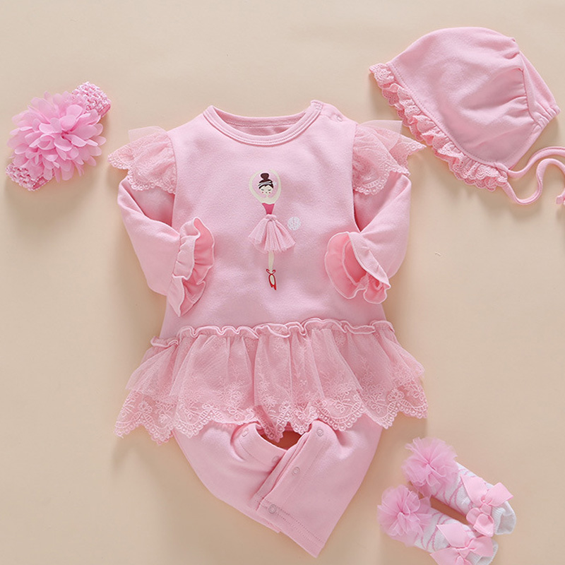 Newborn Kids Baby Girls Clothes Ruffle Romper Jumpsuit Autumn Outfit Long Sleeve Clothing Good Reputation Over The World Mother & Kids Rompers