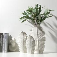 3pcs/set Porcelain Vase Ceramic Living Room Ornaments Decorative Wedding Flower Vase Simple Modern Crafts European Flower Vase