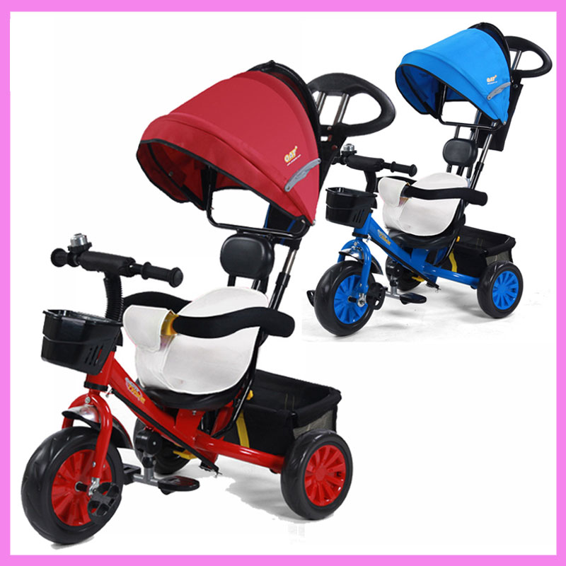 Baby Toddler Kids Tricycle Stroller Bike Bicycle Buggy Pram for Children Removable Cushion Three Wheels Stroller Bottom Basket 2017 kids tricycle pram 3 wheel baby stroller child three wheels carriage baby buggy bike bicycle for 6 month to 6 years old