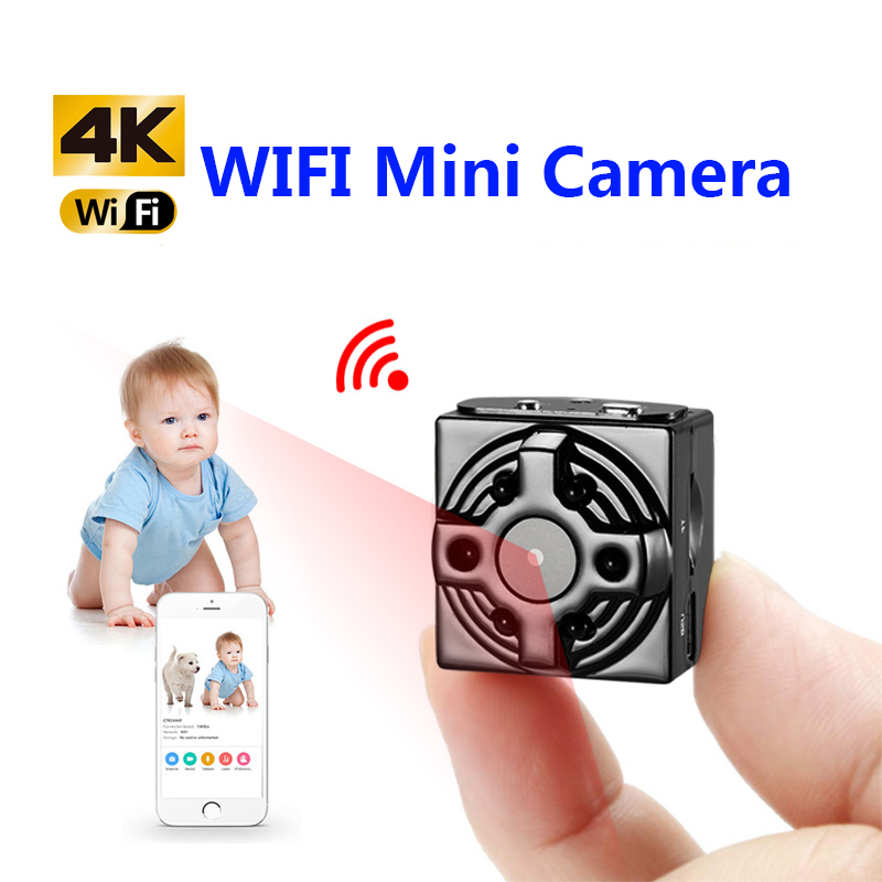 HD 1080P WiFi IP Mini Camera with Irrespecitive Night Vision Led for Home Wireless Surveillance Camera for iPhone/Android View image