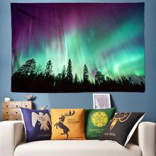 Beautiful Northern Lights Nature Tapestry Wall Hanging Boho Hippie Psychedelic Tapestries Large Bohemian Art