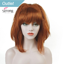 StrongBeauty Cosplay Alla Pugacheva Hairstyle Copper Red Black Blonde Party Wig Halloween Wigs Womens Full Synthetic Hair