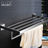 Bathroom Mirror Polished Stainless Steel Towel Rack Wall Mounted Square Towel Holder Acessorios Para Banheiro