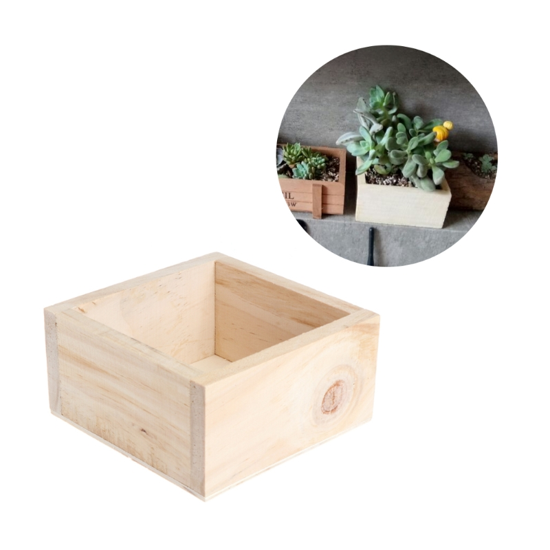 new wood planter box garden yard rectangle flower succulent container plant potchina - Wooden Planter Boxes