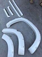 RQXR Car Fender Flares Arch Wheel Eyebrow Protector/mudguard Sticker, body door protect strips for Toyota Land Cruiser 2014 17