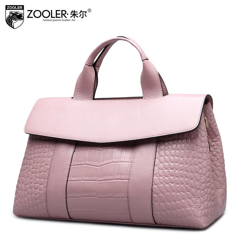 Women Handbag 2017 New  Genuine Leather Bags Large Capacity Crocodile Ladies To