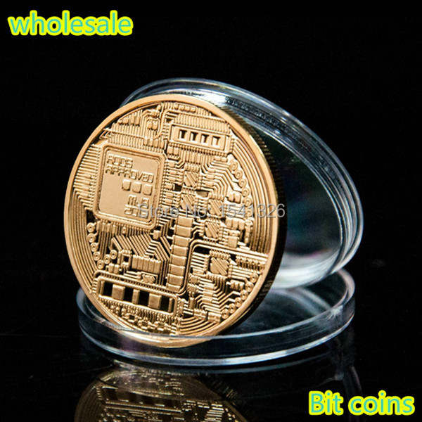US $176 0 20% OFF|999 FINE Gold Plated Bit Coin,Bitcoin+ One Troy Ounce BTC  Gold Plated Coin DHL Free Shipping 100 PCS/LOT-in Non-currency Coins from