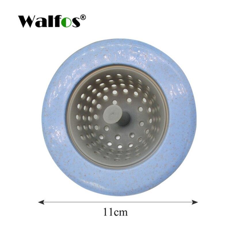 WALFOS пшеничной соломы Кухня раковины ситечко Ванная комната Душ слив раковины стоков крышка раковина дуршлаг канализации волос сетчатый фильтр - Цвет: blue