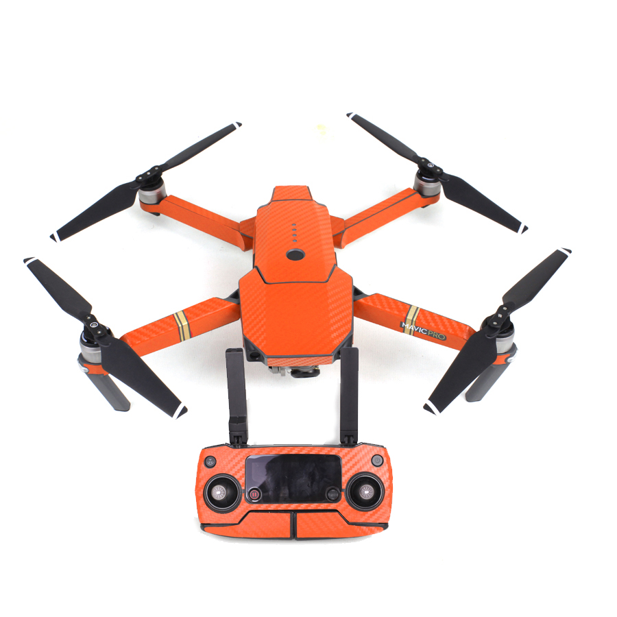 Orange Waterproof Carbon Decal Sticker Skin Wrap Skin For DJI Mavic Pro Drone Quad-copter