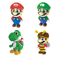 Big Size 20cm Super Mario Mini Blocks Stitch Micro Blocks DIY Building Toys Compete with Legoes Cute Action Figures Kids Gifts