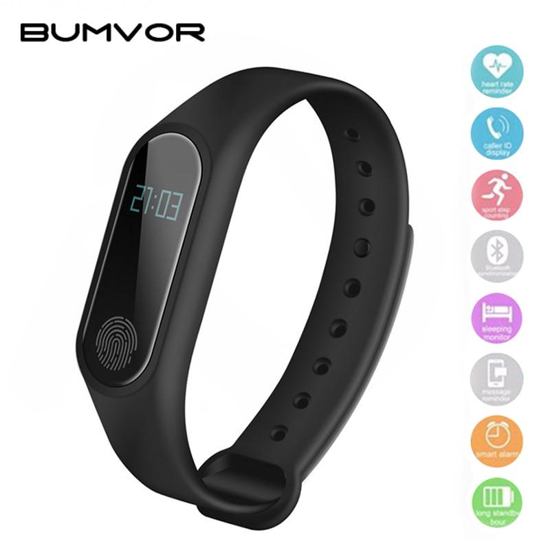 BUMVOR Waterproof IP67 M2 Bracelet Watch Fitness Heart Rate Monitor Blood Pressure Pedometer Bluetooth 4.0 Smart Wristband