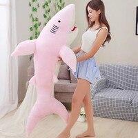 huge 150cm lovely cartoon pink shark plush toy zipper closure soft doll comfortable hugging pillow birthday gift s2348