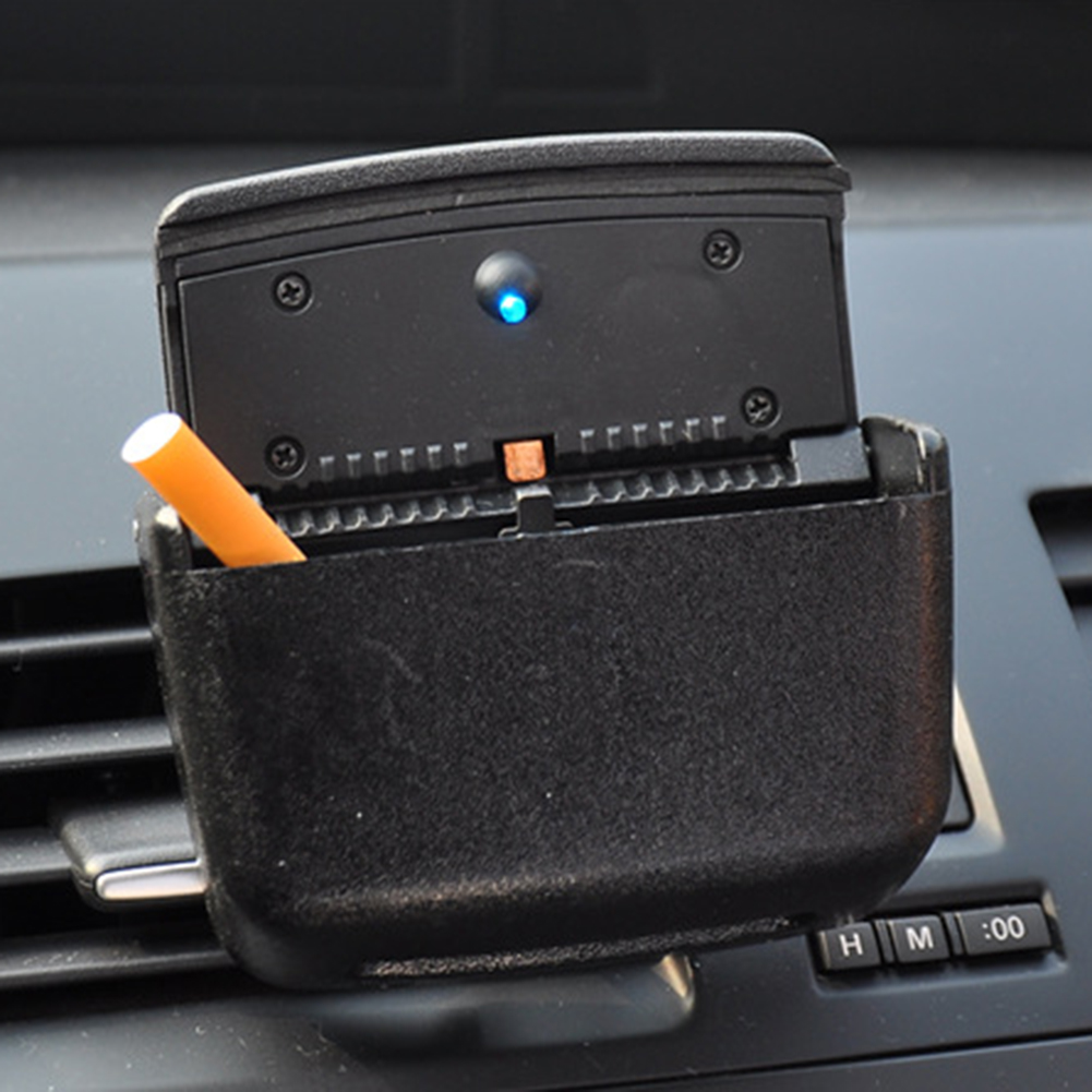 Universal Home Auto Car Air Outlet Ashtray Multiuse LED Cigarette Smoke Remover in Car Ashtray from Automobiles Motorcycles