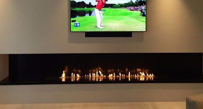 48 Inch Real Fire Ethanol Fuel Intelligent Smart Automatic Ethanol Fireplace