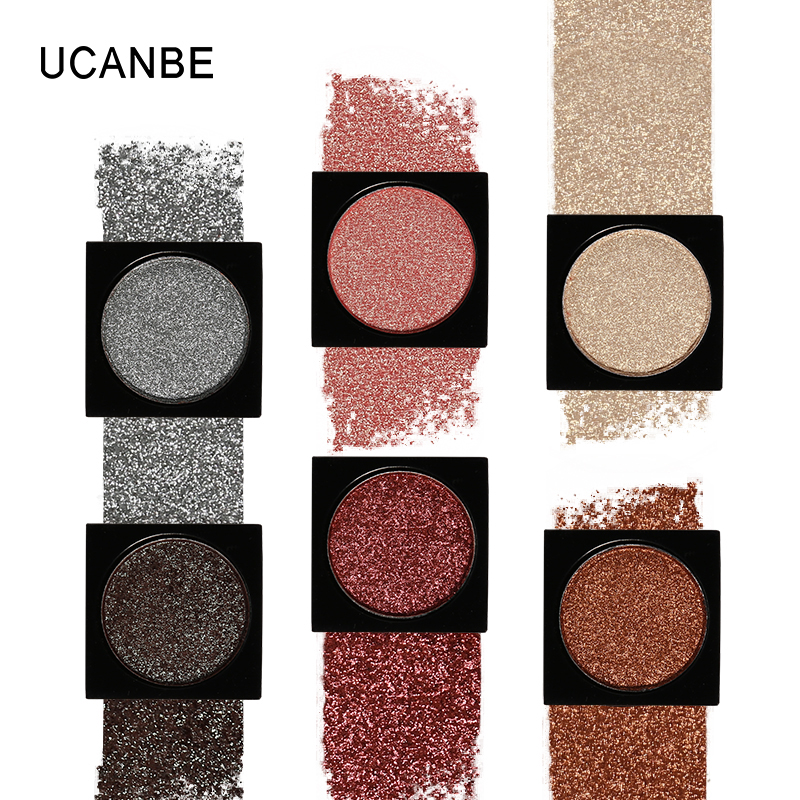 UCANBE יחיד שימר זוהר Duochrome Eyeshadow Palette DIY בתולת ים Glitter גבוהה פיגמנט איפור Smoky 3D Sparkle Eye Shadow