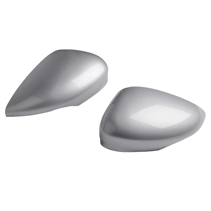 1 Pair Left/Right Silver Rearview Side View Mirror Replacement Cover Cap Case Shell for Ford for Fiesta Mk7 2008 2009 2010 201