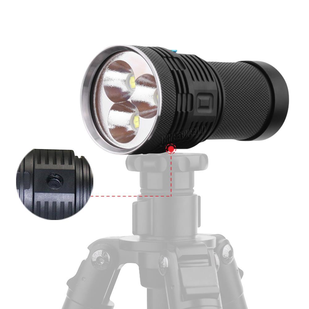 Super bright flashlight xhp70 Photography video fill light flashlight 18650 battery 3 led flash light waterproof torch linterna - 2