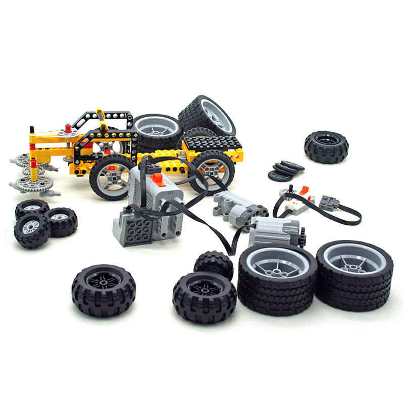 1 Piece Fit For Legoes EV3 TECHNIC Parts Wheel + Tires 9686 Wheel Mechanical No.44309+56145 & 89201 & 44771 Blocks Toys MOC Parts