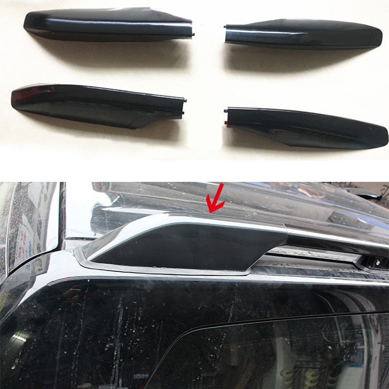 For Toyota Land Cruiser Prado FJ120 2003 2009 ABS Roof Rack Rail End Protection Cover Shell
