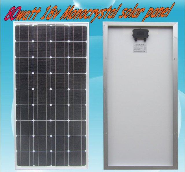 80w 18V Solar Panel Module Charger 12V Battery-low price, free shipping, high efficiency, 80 watt