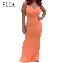 FUDA Plus Size XXL Women Sleeveless Hollow Out Slim Maxi Dress Elegant Bodycon Bandage Pencil Femme Largo Verano Mujer