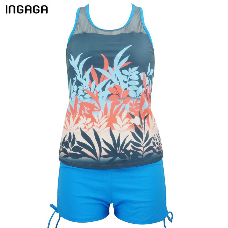 INGAGA 2018 Tankini merk zwemkleding Dames tweedelig badpak Mesh - Sportkleding en accessoires