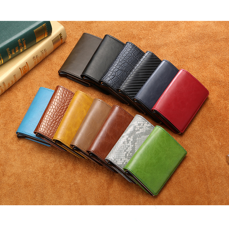 2019 New RFID Blocking Unisex Vintage Card Wallet Credit Card Holder Metal Card Holder Aluminum 13 Colors Card ID Case in Wallets from Luggage Bags