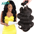 Beautiful Soft Malaysia Virgin Human Hair50g/Bundles Natural Color Malaysia Body Wave7A Grade Free Shipping Body Wave Extension