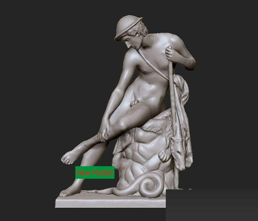New model 3D model for cnc or 3D printers in STL file format Young man who is injured by a poisonous snake. model relief for cnc in stl file format 3d panno bird 1