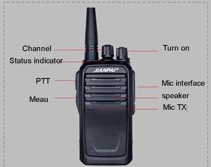 Image 2 - VHF ham radio JP 1000 портативная рация с мощной батареей 5600 мАч для охоты на открытом воздухе на большие расстояния 10 км
