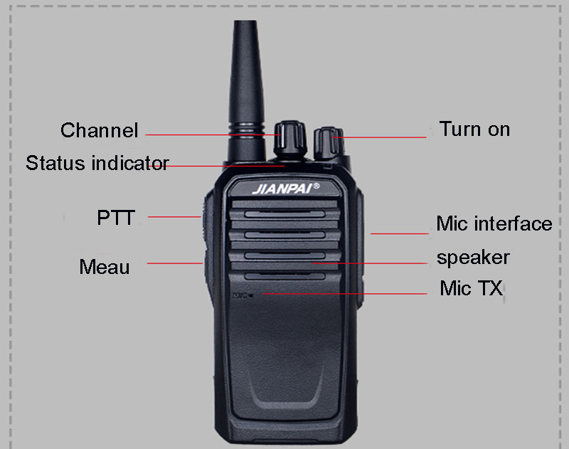 Image 2 - VHF ham radio JP 1000 walkie talkie powerful 5600mAh battery outdoor long distance hunting walkie talkie 10km-in Walkie Talkie from Cellphones & Telecommunications