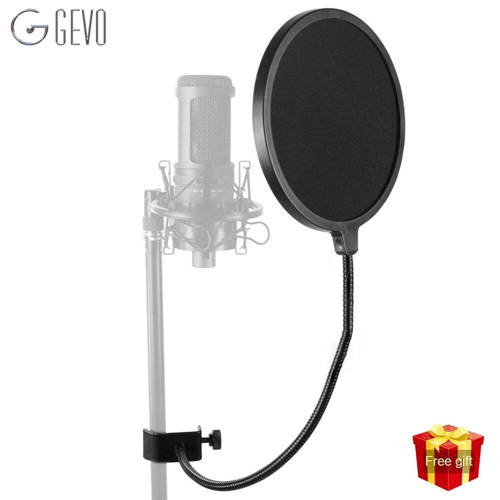 MPF-6 Pop filtro profesional escudo Pop Bilayer grabación aerosol guardia viento voladizo neta soporte para micrófono de estudio