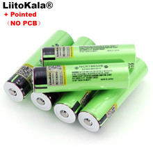 Liitokala new NCR18650B 3.7v 3400 mAh 18650 Lithium Rechargeable Battery with Pointed (No PCB) batteries