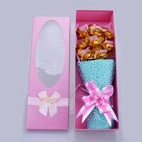 24 k Goud Folie Plated Rose Boeket Geschenkdoos Voor Valentijnsdag Gift Koningsblauw Kunstmatige Rose Voor bruiloft Decoratie