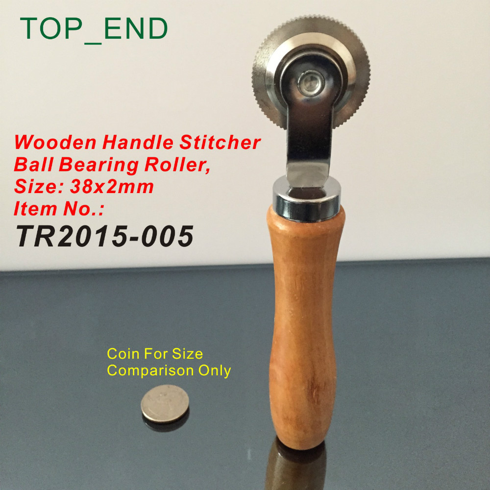 38x2mm Ball Bearing Roller,Wooden Handle Stitcher,Professional Tire Repair Tools,A Tool For Garage,Tire Repair Service Shop